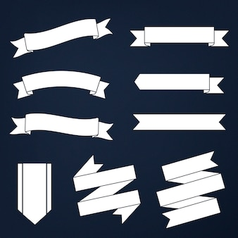 Set van gemengde banners