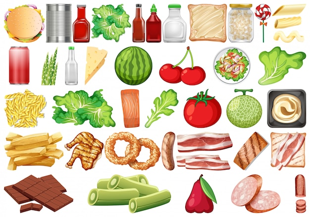 Set van gezond voedsel