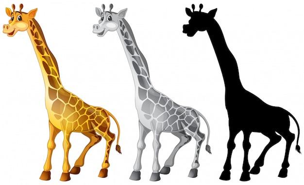 Set van giraffe karakter