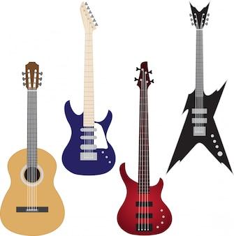 Set van gitaren