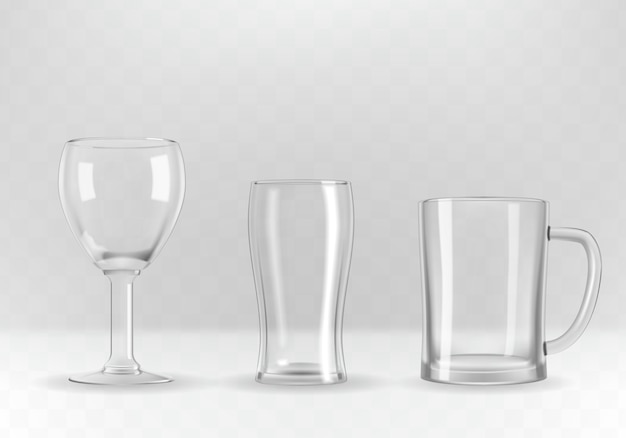 Set van glazen