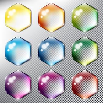 Set van glazige vorm