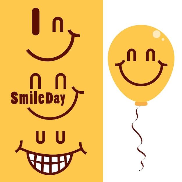 Set van glimlach dag