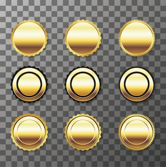 Set van goldenseal geïsoleerd op transparante achtergrond