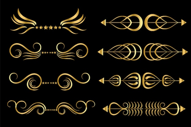 Set van gouden frames