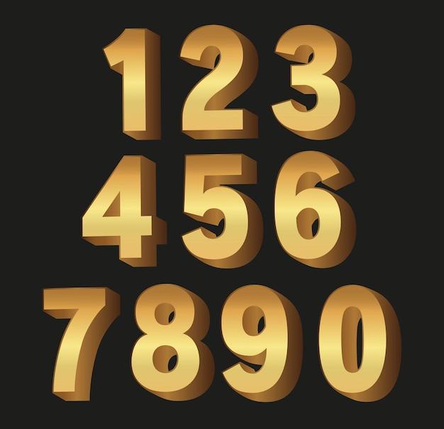 Set van gouden luxe nummers