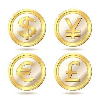 Set van gouden munten