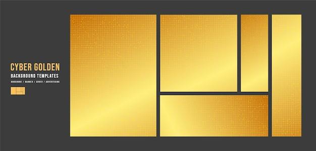 Set van gouden technologie sjabloon