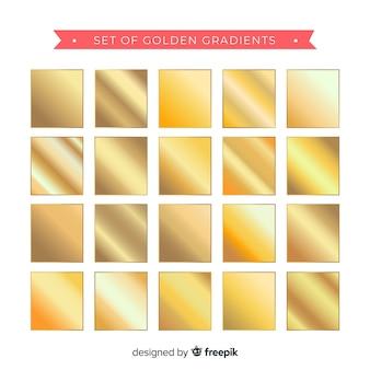 Set van gouden verloop