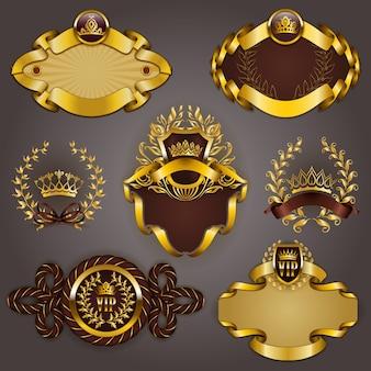 Set van gouden vip
