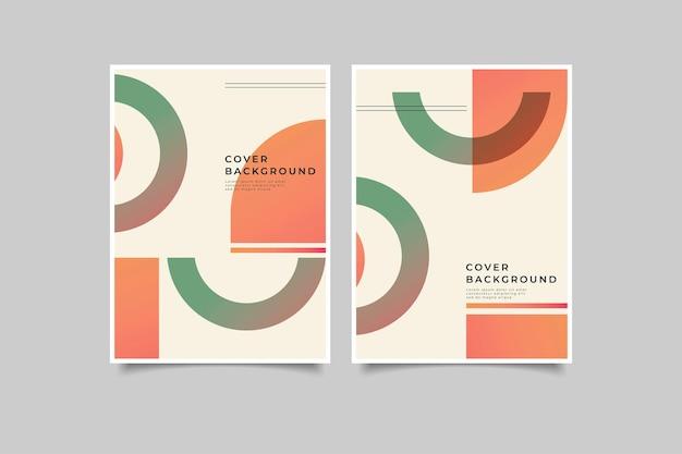 Set van gradiënt cover collectie