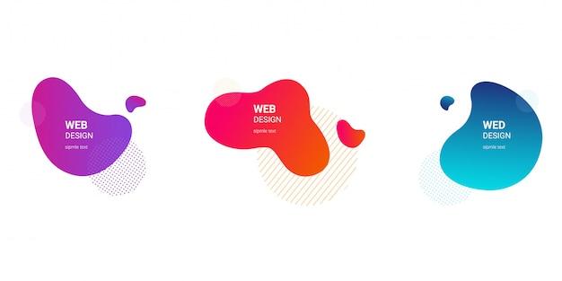 Set van grafische vloeibare elementen voor modern ontwerp