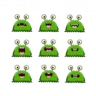 Set van grappige monsters