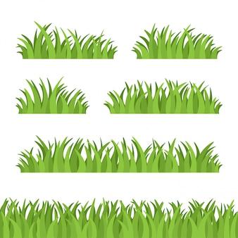 Set van groen gras