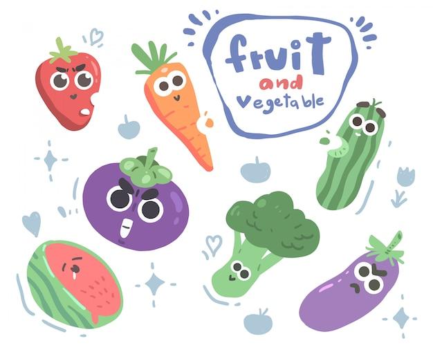 Set van groenten en fruit