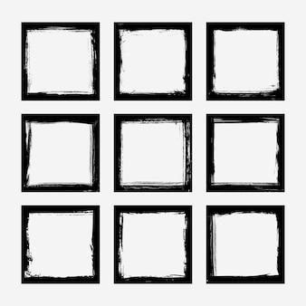 Set van grunge frames-collectie