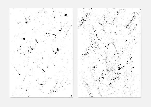 Set van grunge penselen lijnen penseelstreken met een droge borstel