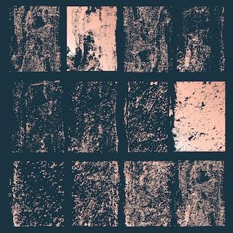 Set van grunge vierkanten