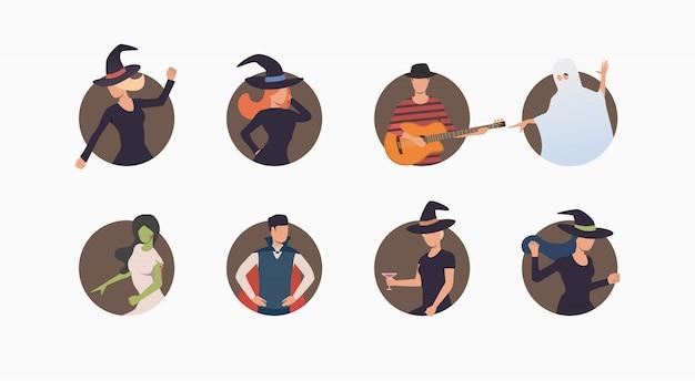 Set van halloween karakters