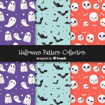 Set van halloween patronen