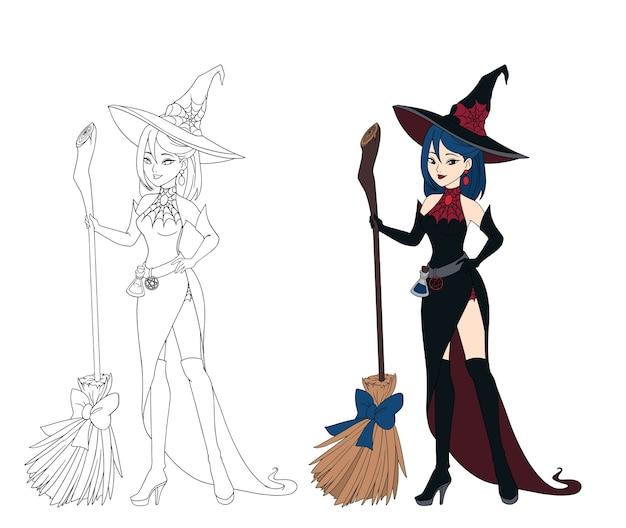 Set van halloween thema heks