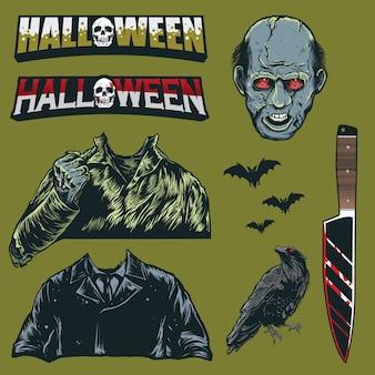 Set van halloween