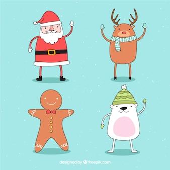 Set van hand getrokken kerst tekens
