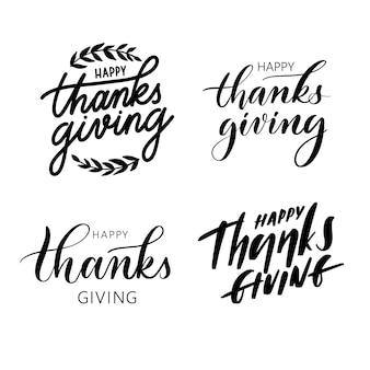 Set van happy thanksgiving