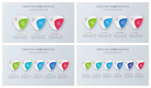Set van hedendaagse minimalistische vector infographic ontwerpen.