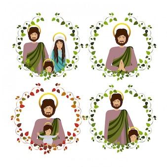 Set van heilige familie