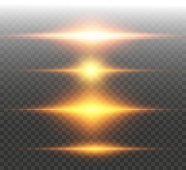 Set van heldere mooie sterren fonkelende mooie lichten graphics.