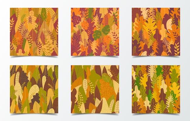 Set van herfst bos kaarten