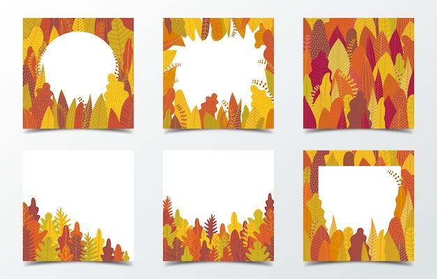 Set van herfst kaarten