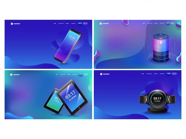 Set van hero-shots met gadgets.