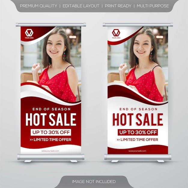Set van hete verkoop sjabloonontwerp spandoek