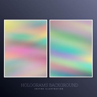Set van holografische achtergrond