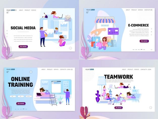 Set van homepage sjablonen