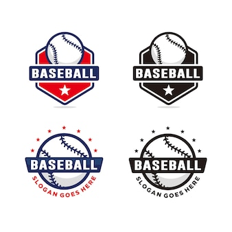 Set van honkbal logo sjabloon