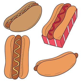 Set van hotdogs