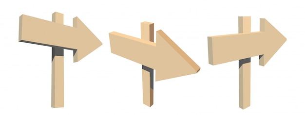 Set van houten trektochten