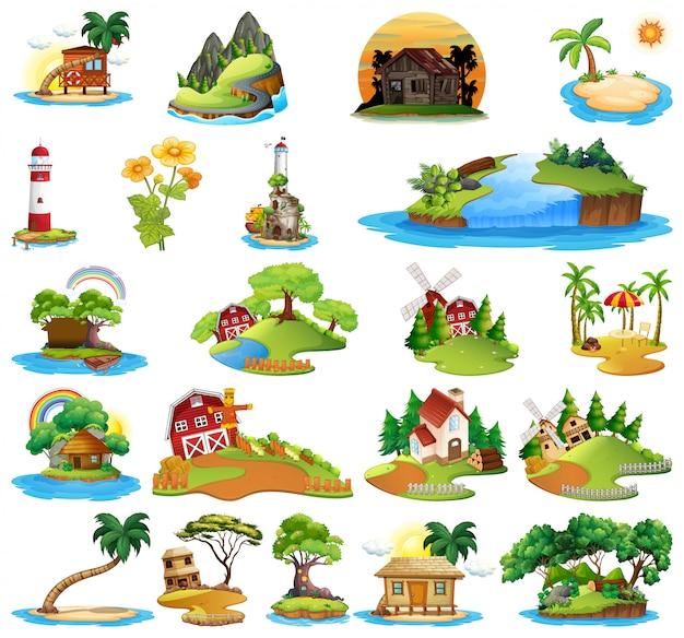 Set van huis in de natuur