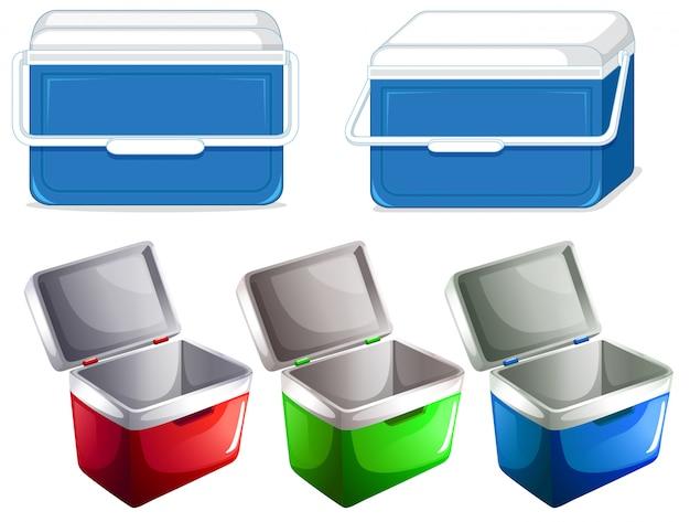Set van ijsbak container