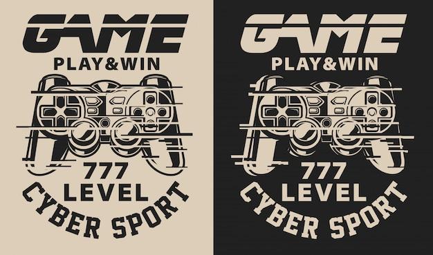 Set van illustratie op het thema gaming