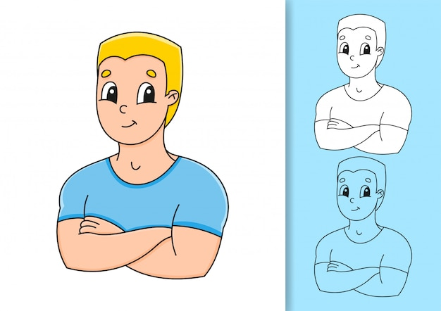 Set van illustraties op witte en gekleurde achtergrond.
