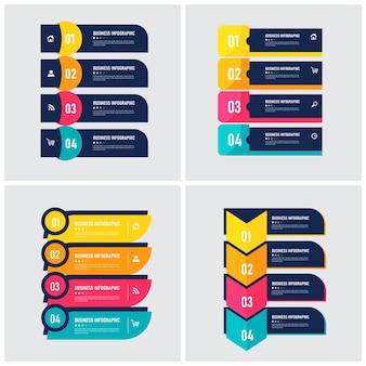 Set van infographic element sjabloon