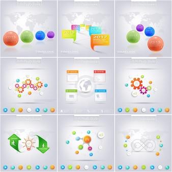 Set van infographic voor uw ontwerp. kan worden gebruikt voor werkstroomlay-out, diagram, grafiek, nummeropties, webdesign. vector illustratie