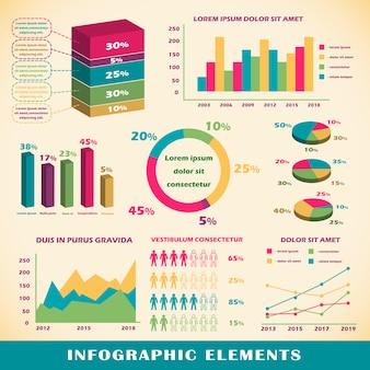 Set van infographics elementen