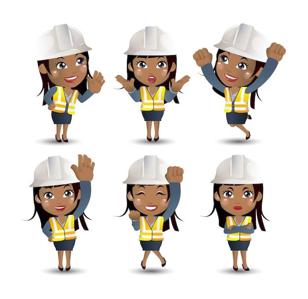 Set van ingenieur, werknemer