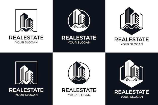 Set van inspiratie voor het bouwen van logo's