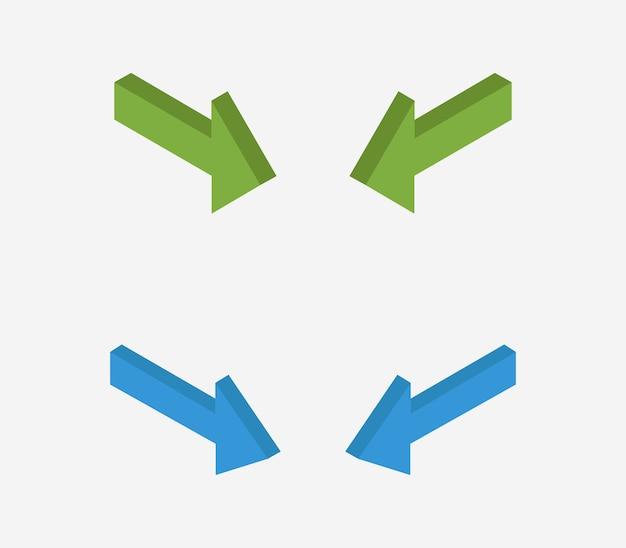 Set van isometrische pijlen